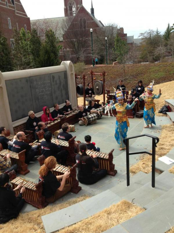 Gamelan Raga Kusuma performing at the University of Richmond
