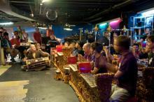 Gamelan Raga Kusuma performing at the Fat Cat in NYC.  Photo by Ron Karnes.
