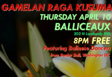 Gamelan Raga Kusuma at Balliceaux, 2014-04-10.